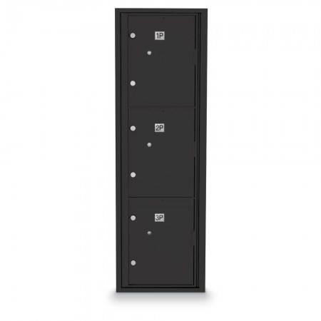 3 Parcel Locker 4C Horizontal Mailbox