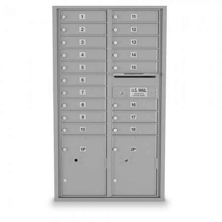18 Door, 2 Parcel Locker 4C Horizontal Mailbox