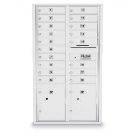 18 Door, 2 Parcel Locker 4C Horizontal Mailbox