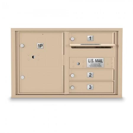 3 Door 4C Horizontal Mailbox