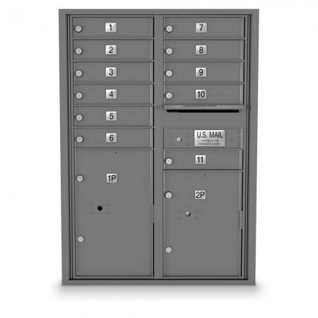 11 Door, 2 Parcel Locker 4C Horizontal Mailbox