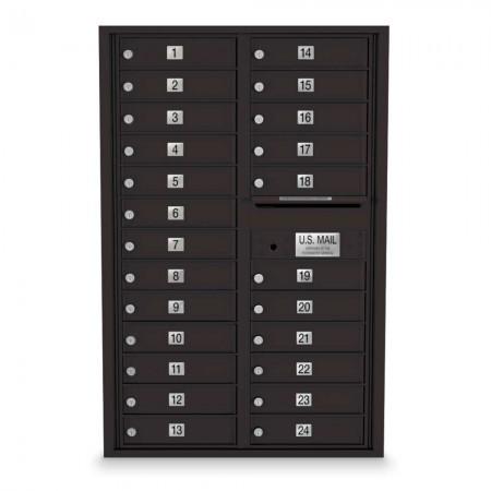 24 Door 4C Horizontal Mailbox