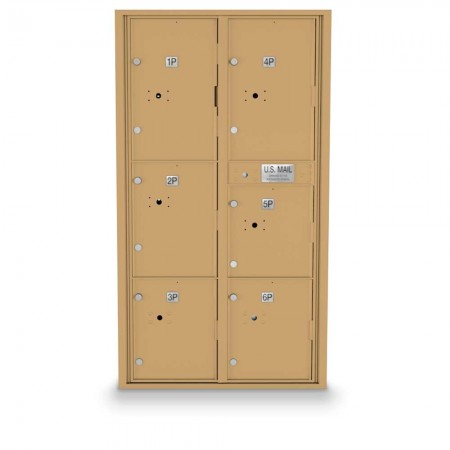 6 Parcel Locker 4C Horizontal Mailbox