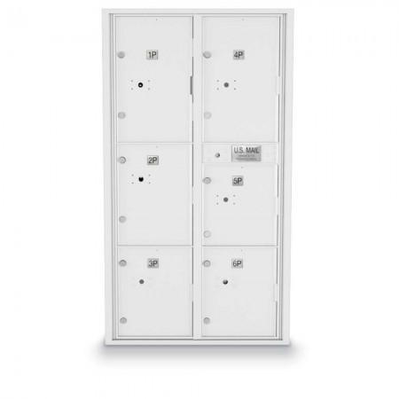 6 Parcel Locker 4C Horizontal Mailbox