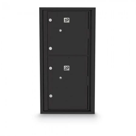 2 Parcel Locker 4C Horizontal Mailbox