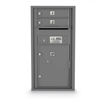 2 Door, 1 Parcel Locker 4C Horizontal Mailbox