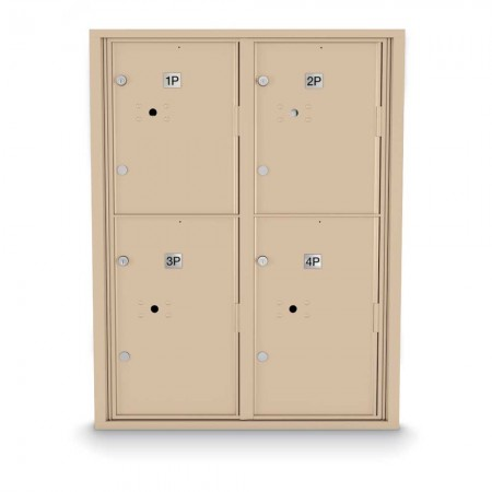 4 Parcel Locker 4C Horizontal Mailbox
