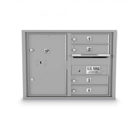 4 Door, 1 Parcel Locker 4C Horizontal Mailbox