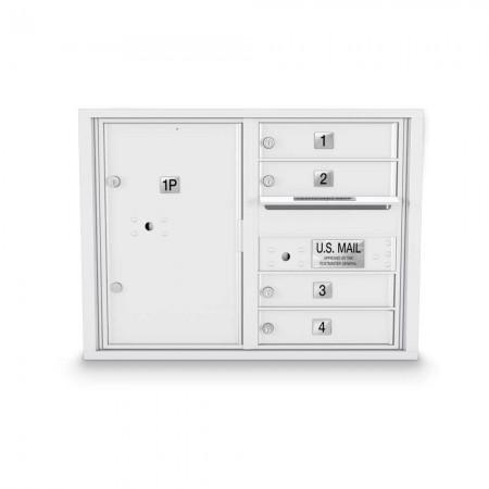 4 Door, 1 Parcel Locker 4C Horizontal Mailbox
