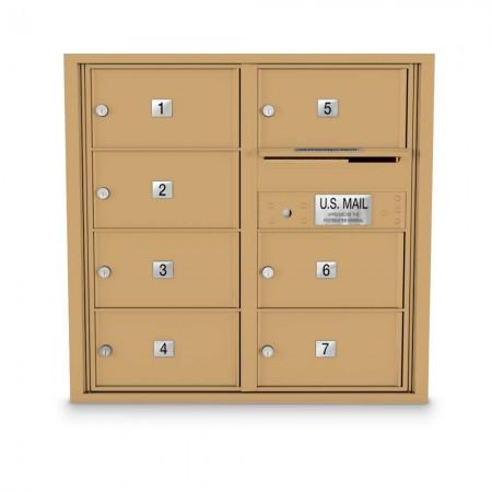 7 Door Over-sized 4C Horizontal Mailbox