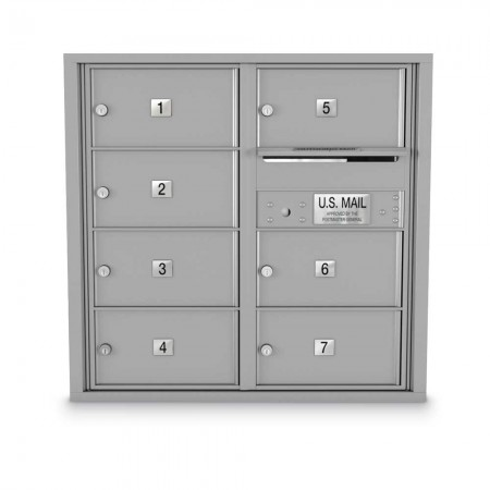 7 Door Over-sized 4C Horizontal Mailbox