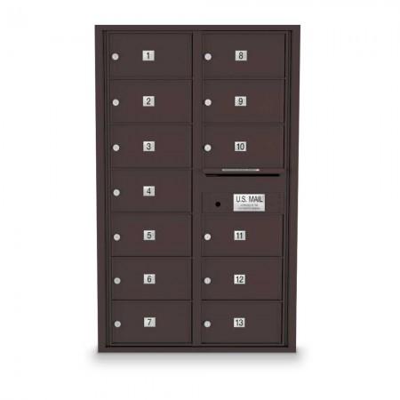 13 Door Over-sized 4C Horizontal Mailbox