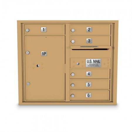 6 Door 4C Horizontal Mailbox