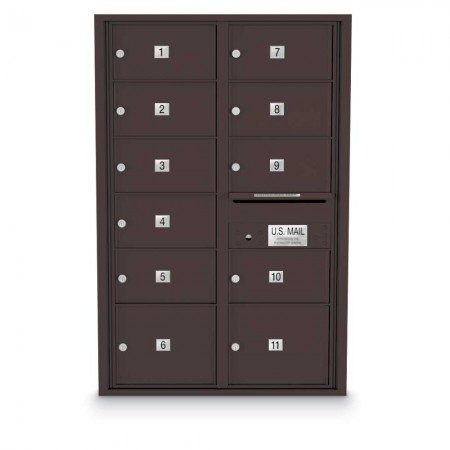 11 Door Over-sized 4C Horizontal Mailbox