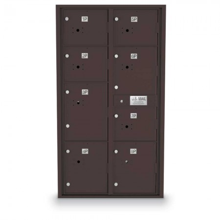 8 Parcel Locker 4C Horizontal Mailbox
