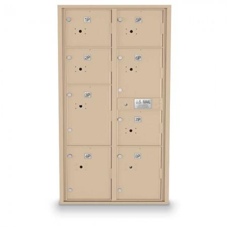 8 Parcel Locker 4C Horizontal Mailbox