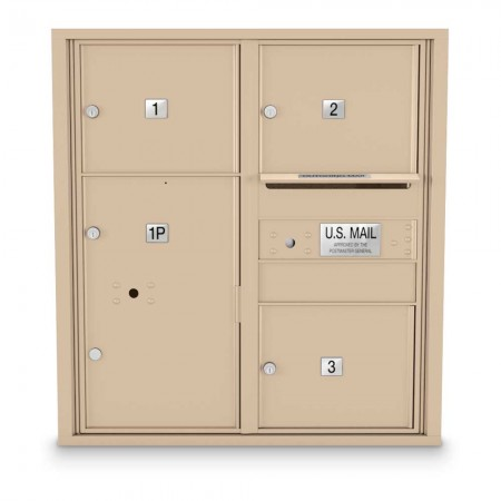 3 Door Over-sized 4C Horizontal Mailbox