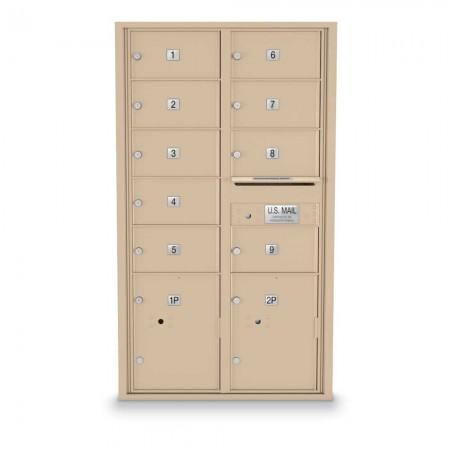9 Door Over-sized 4C Horizontal Mailbox