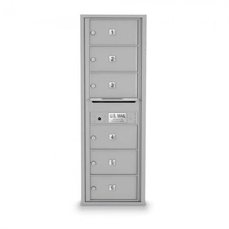 6 Door Over-sized 4C Horizontal Mailbox