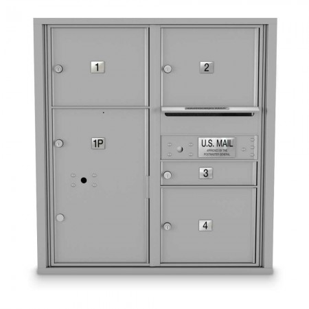 4 Door Over-sized 4C Horizontal Mailbox