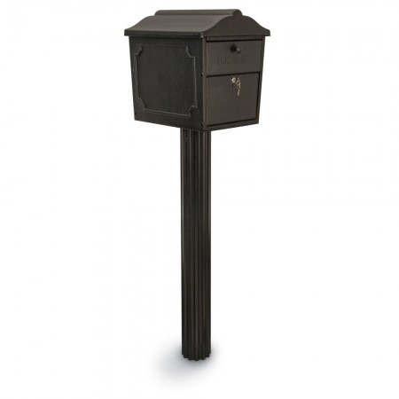 Dual-Entry Lockable Curbside Mailbox with Senator Post
