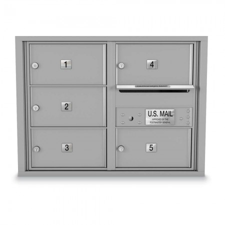 5 Door Over-sized 4C Horizontal Mailbox