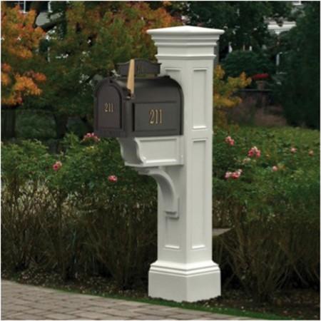 Liberty Mail Post, White