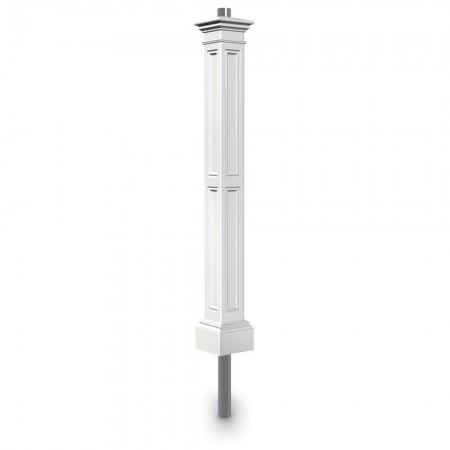 Liberty Lamp Post With Mount, White