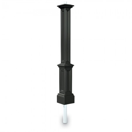 Signature Lamp Post With Mount, Black