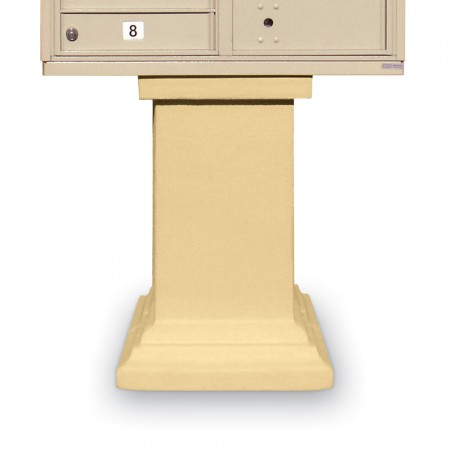 Stucco Tall Pedestal for CBUs
