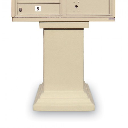 Stucco Tall Pedestal for CBUs