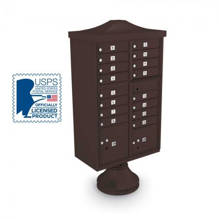 Decorative 16-Door CBU including Short Pedestal,  and Cap
