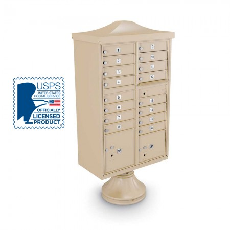 Decorative 16-Door CBU including Short Pedestal,  and Cap