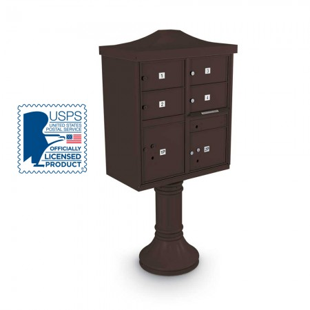 Decorative Large-Capacity 4-Door CBU including Tall Pedestal,  and Cap