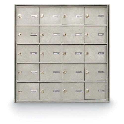 20 Door Rear Loading 4B+ Horizontal Mailbox