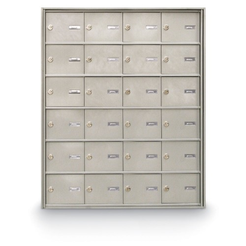 24 Door Rear Loading 4B+ Horizontal Mailbox
