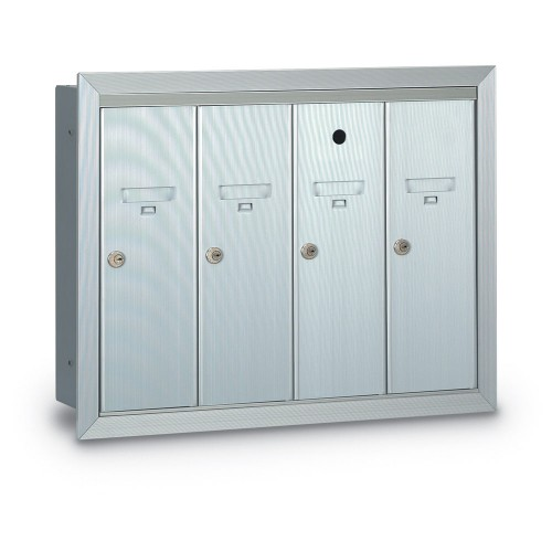 4 Door Recessed Vertical Mailbox