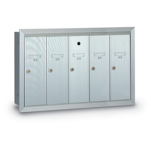 5 Door Recessed Vertical Mailbox
