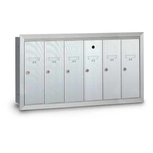 6 Door Recessed Vertical Mailbox