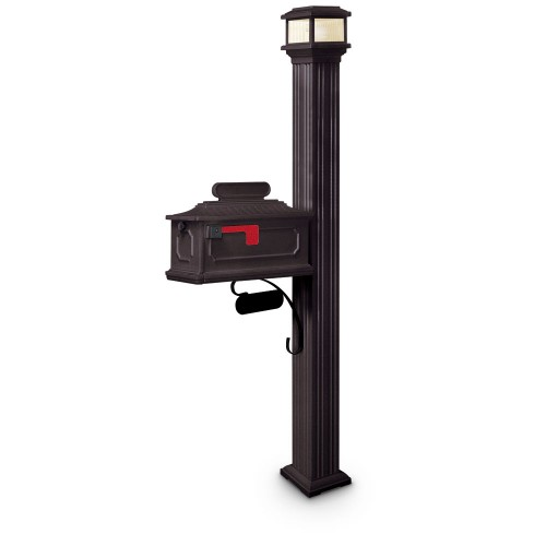 Illuminated Altair Estate Series Residential Mailbox & Post