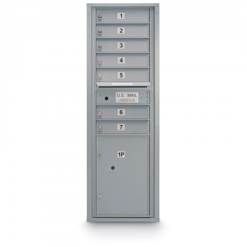 7 Door 4C Horizontal Mailbox - 1 Parcel Locker