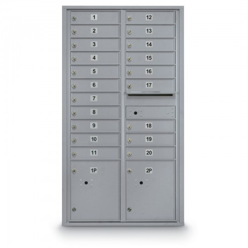 20 Door 4C Horizontal Mailbox - 2 Parcel Lockers