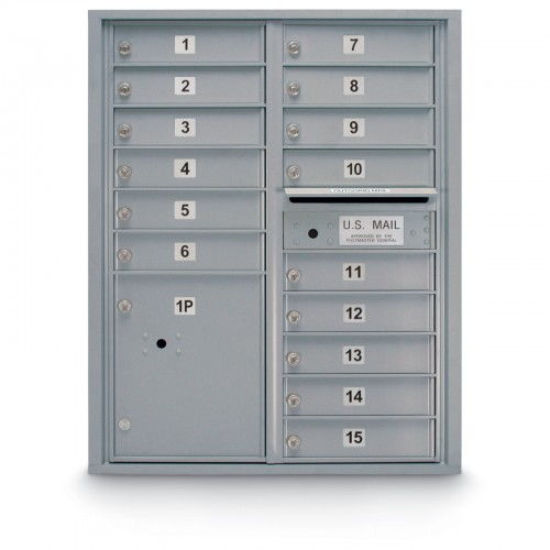 15 Door 4C Horizontal Mailbox - 1 Parcel Locker