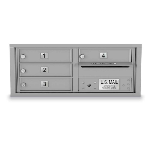4 Door 4C Horizontal Mailbox
