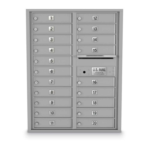 20 Door 4C Horizontal Mailbox