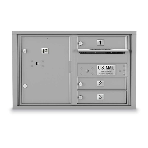 3 Door 4C Horizontal Mailbox