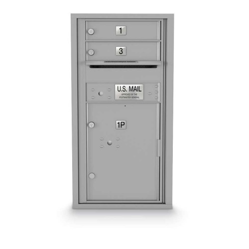 2 Door, 1 Parcel Locker 4C Horizontal Mailbox