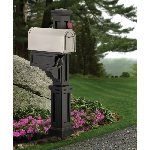 Rockport Single Mail Post, Black or White