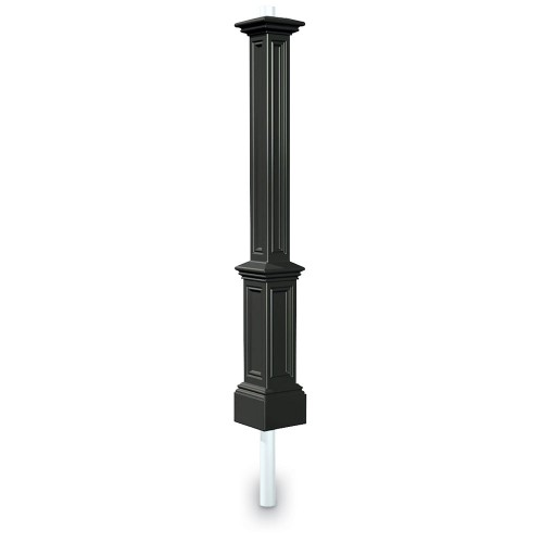 Signature Lamp Post With Mount, Black or White