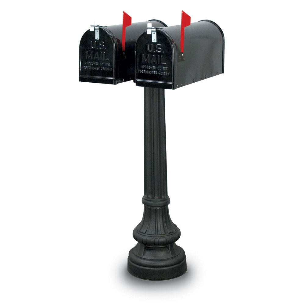 Salem Classic Colonial Double Residential Mailboxes & Post